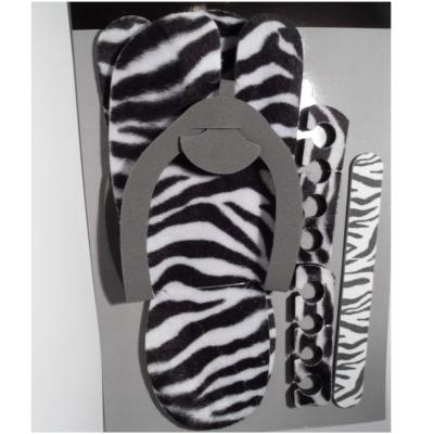 Pedicure Set Zebra
