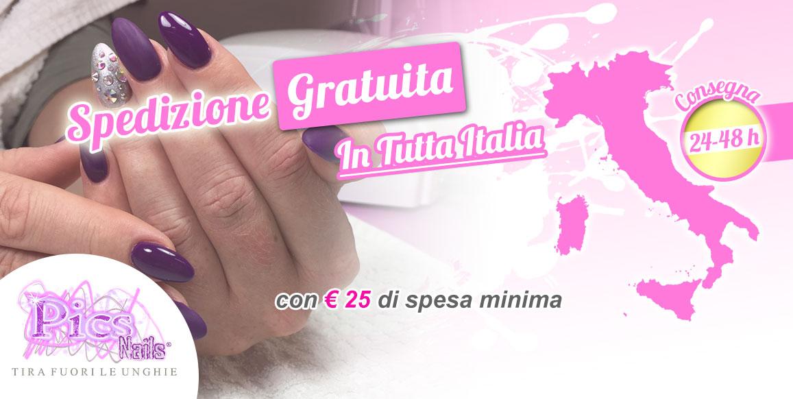 Pics Nails Offre la Spedizione Gratuita con 25 € di Spesa Minima