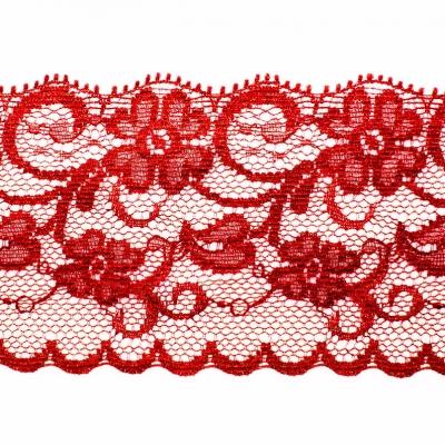 Pizzo Per Unghie Rosso Floreale