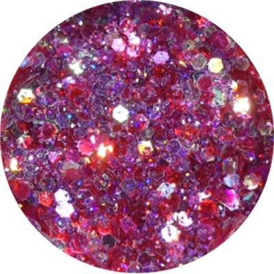Polvere Extra Glitter Fuxia Rosso