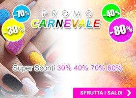 Promozione per Unghie Carnevale Pics Nails -30% -40% -70% -80%