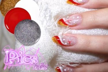 ricca ricostruzione unghie natalizia pics nails