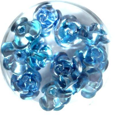 Rose in Alluminio Azzurro