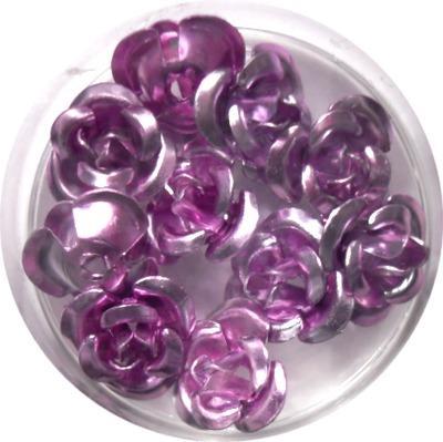 Rose in Alluminio Lilla