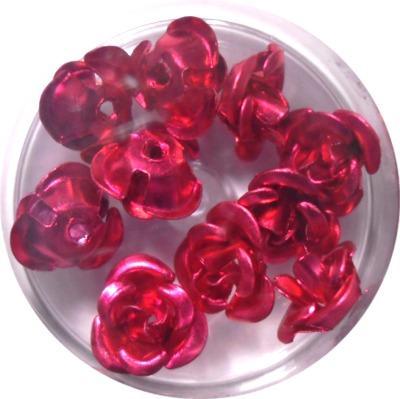 Rose in Alluminio Porpora