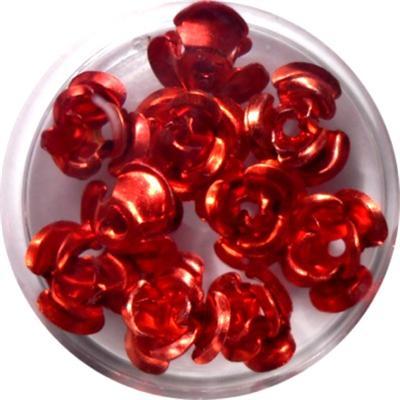Rose in Alluminio Rosso