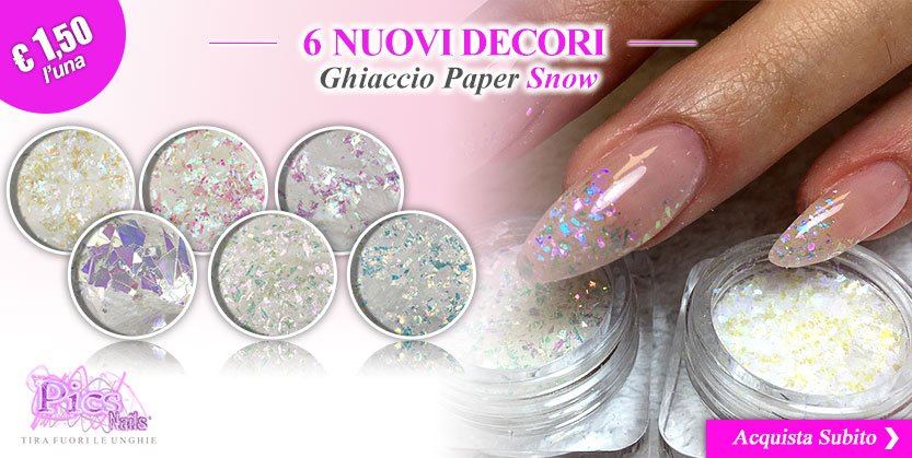Scopri le Nuove Decorazioni per Unghie Ghiaccio Paper Snow!!