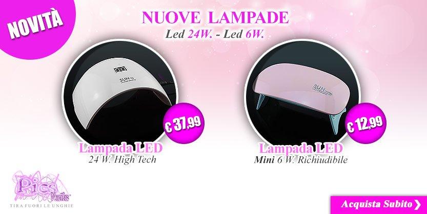 Nail art prodotti per unghie gel e naturali professionali for Nuove lampade a led