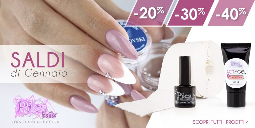 Scopri Ora i SALDI Pics Nails! -20%, -30% e -40%
