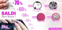 Sfrutta i SALDI Pics Nails ! ....dal 20% fino al 70% su Oltre 40 Prodotti !!