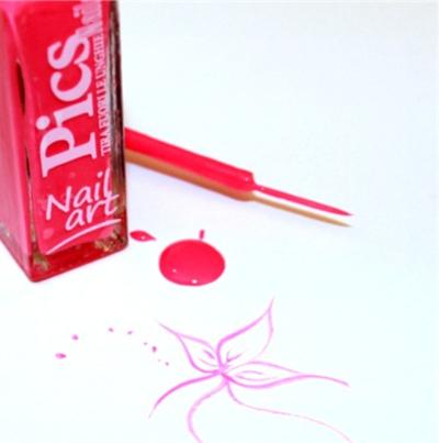 smalto nail art rosa neon 05