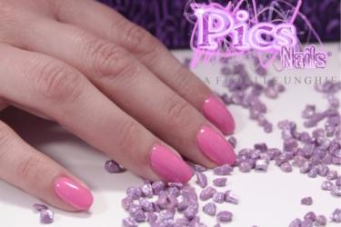 Smalto Semipermanente 3in1 Rosa Bubble Pics Nails