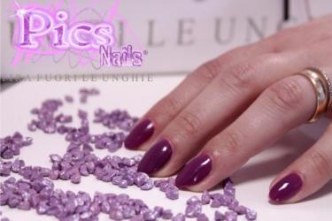 Smalto Semipermanente 3in1 Viola Chiaro Lacca Pics Nails