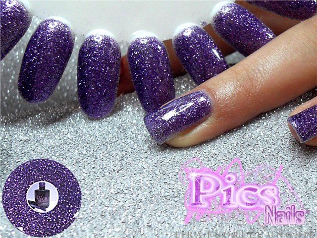 Smalto Semipermanente Glitter Viola