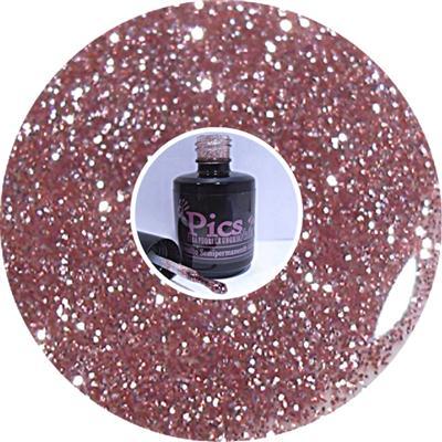 Smalto Semipermanente Glitter Rosa 77