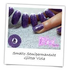smalto semipermanente viola Glitter