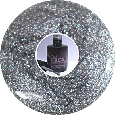 Smalto Semipermanente Grigio Metal Glitter 73
