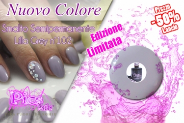 Smalto Semipermanente Lilla Grey Pics Nails