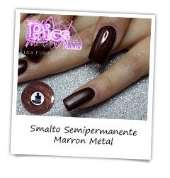 Smalto Semipermanente Marron Metal