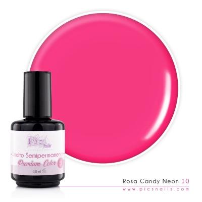 Smalto Semipermanente Rosa Candy Neon 10 10ml