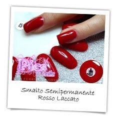 Smalto Semipermanente Rosso Laccato Pics Nails