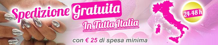 Spedizioni Gratuite in Tutta Italia su Pics Nails !