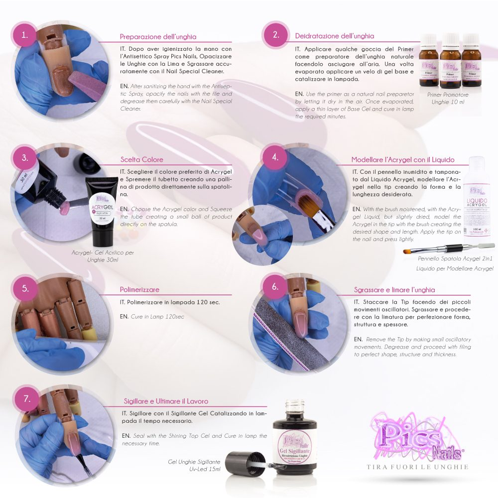 Come Utilizzare l'Acrygel o gel acrilico per Unghie