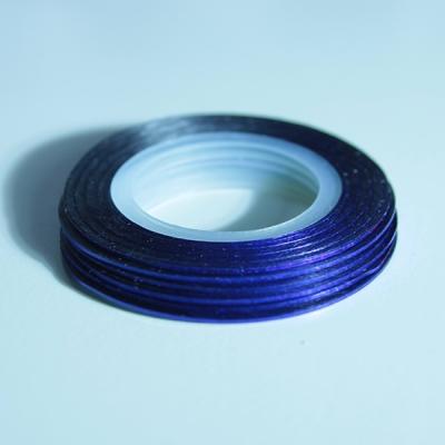 Striping Nail Art Blu 3