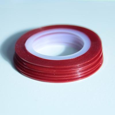 Striping Nail Art Rosso Chiaro 14