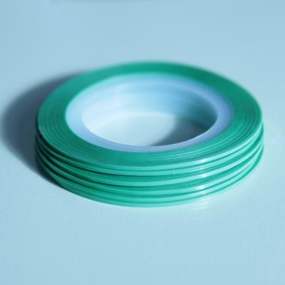 Striping Nail Art Verde Acqua 5