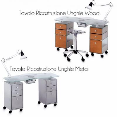 Tavolo Ricostruzione Unghie In Vetro Metal Wood