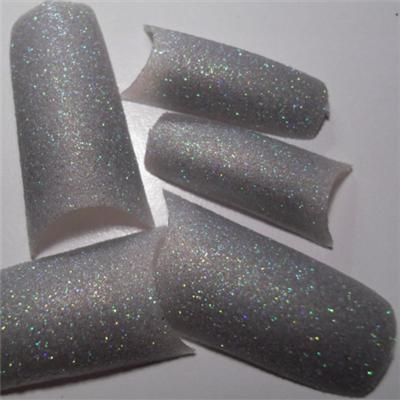 Tips Argento Olografic Glitter