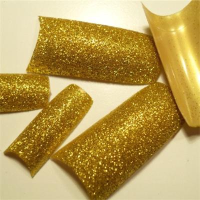 Tips Oro Glitter
