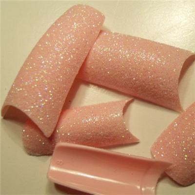 Tips Rosa Tenue Glitter
