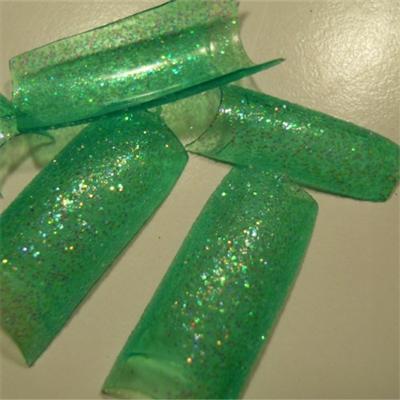 Tips Verde Glitter