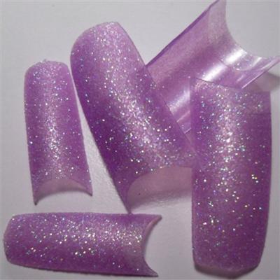 Tips Viola Tenue Glitter
