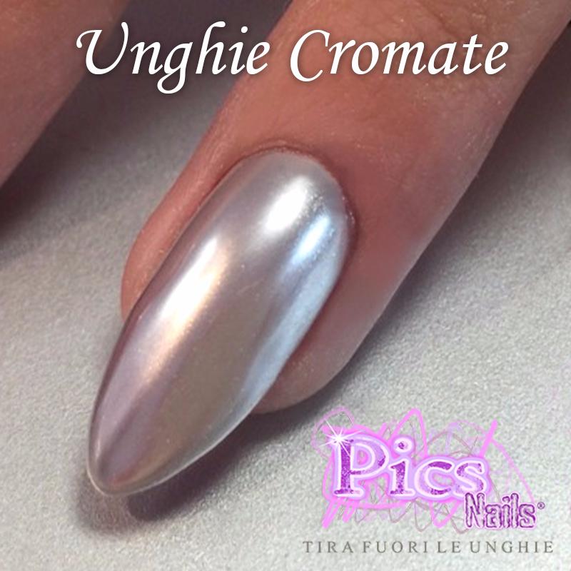 Polvere specchio effetto cromo novita 39 pics nails - Unghie gel specchio ...