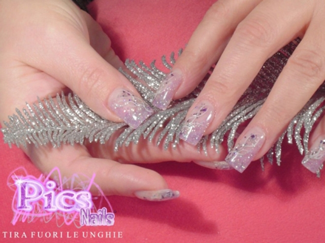 spesso Unghie Decorate Nail Art con French Lilla | Pics Nails TB53