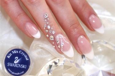 Unghie Eleganti Utilizzare Brillantini Unghie Swarovski Pics Nails