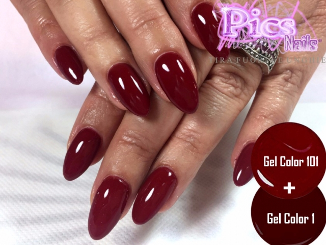 Unghie Gel Bordeaux