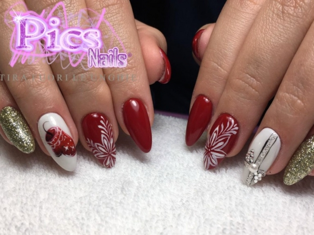 Unghie Gel Natalizie Pics Nails