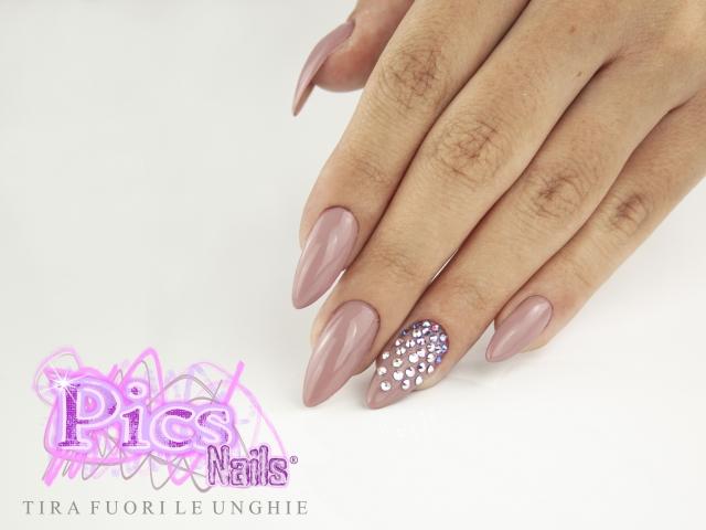 Unghie Gel Rosa Antico   Pics Nails