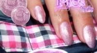 Unghie Glitter Lilla Rosa