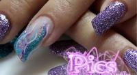 Unghie Glitter Viola