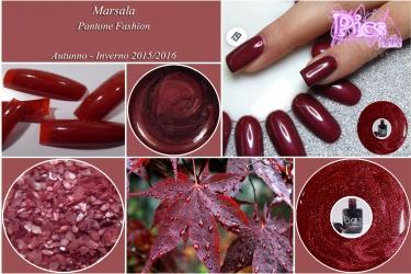 unghie inverno colore moda marsala