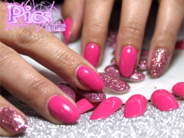 unghie rosa glitter | Pics Nails